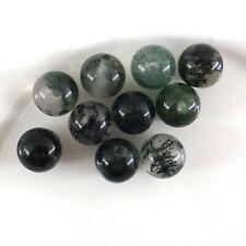 10 perles de gemme de 6 mm en agate mousse, pierre naturelle-vtp142