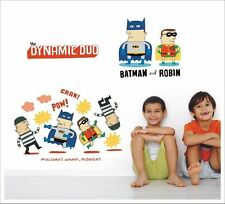 Kids Removable Wall Stickers - 'The Dynamic Duo' Batman and Robin SA-12-013