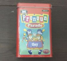 Vintage PRONOUN PARADE He She They Flash Cards Super Duper Educational Learning