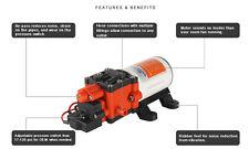 12V Seaflo 100 PSI Water Pump RV Boat High Pressure Marine/Boat 4 Year Warranty