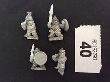 Warhammer Rogue Trader Dwarf Squats Hearthguard Berzerkers X4 1988 RARE