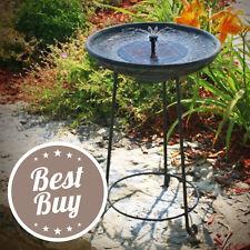 Solar Bird Bath Fountain Garden Outdoor Water Pump Relaxation Iron Stand Copper