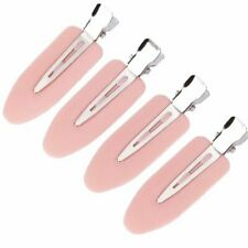 4pcs Pink No Bend Crease Mark Hair Clips Barrettes For Make Up Styling Durable