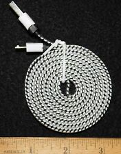 White/Black Braided 6FT Charging Cable Micro USB End...Buy It Now