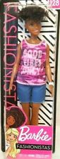 BARBIE Fashionistas Doll #128 Pink Camo Tank Top GOOD VIBES ONLY 2019 New