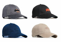 Superdry New Mens Orange Label Baseball Cap Hat Black Blue Burgundy Grey