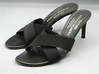 "Donald J Pliner Couture Womens Strappy Black 3"" Heel Mules Slip-on Shoes 7 M"