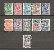 More details for bechuanaland 1938-52 sg 118/28 mnh cat £110