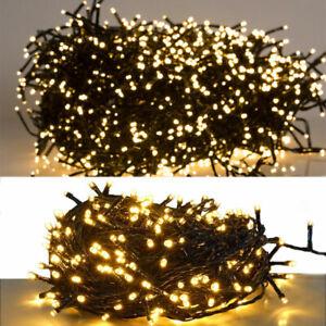 30M 300LED Weihnachtsbaum Lichterkette USB Warmweiß Weihnachts Innen Außen Licht