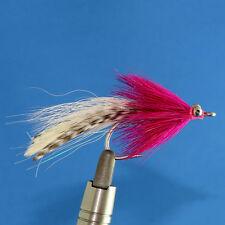 12 Pink/White Things Fishing Flies