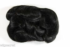 Ash Black Brunette Short Human Hair Curly Straight Clip-in-Extension Hair Pieces