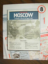 IMAGES OF WAR WWII CAMPAIGN MAP BATTLE FOR MOSCOW RUSSIA OCT 1941 - APRIL 1942