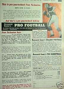 1967 Fran Tarkenton Minnesota Vikings Football Vintage  Sports Promo Trade Ad