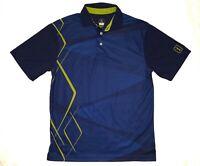 PGA Tour Pro Series Golf Blue Short Sleeve Shirt Mens Size Small