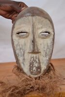 African tribal art, lega dance Mask  from shabunda  DR of  Congo