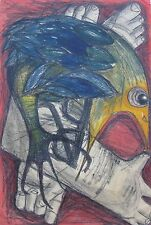 "JOHN DALTON AUSTRALIAN LARGE MIXED MEDIA ""ANGRY BIRD"" 1960"