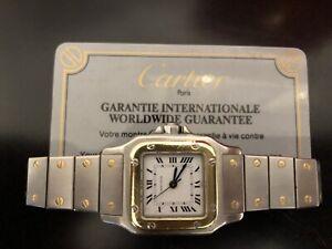 Women's Cartier Santos Watch 18k Gold & Steel inc Box Automatic