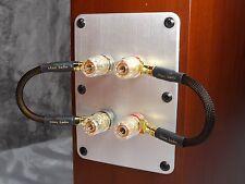 Maze Audio Audiophile Spade/Spade Gold Speaker Jumper Wires Cables Bi-Wire