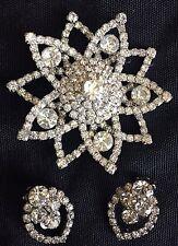 Retro Earrings and Brooch
