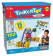 Playskool TinkerToy-Snaps Together-15 Building Ideas-150 pcs-New-Storage Box