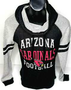 Arizona Cardinals Womens Sweater Pullover NFL Official Logo Cowl Terry Small