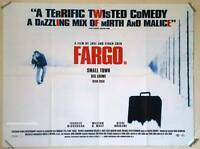 FARGO Frances McDormand Original 1996 UK cinema quad movie POSTER Coen Brothers