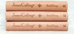 NEW Jesus Calling Set of 3 Books Pink Leatherflex Deluxe Edition by Sarah Young
