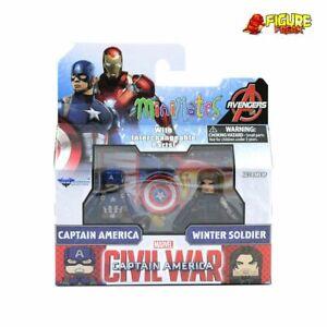 Marvel Minimates Series 66 Captain America Civil War Movie Cap & Winter Soldier