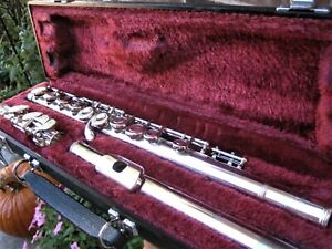 Clean/Fully Adjusted Yamaha Silver Plated Flute YFL225S Japan (221 Predecessor)