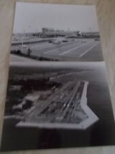 2 Real  B & W Photographs Of Ouita Airport Japan -Ex The John Stroud Collection