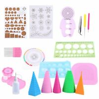 19Pcs DIY Paper Quilling Handmade Tools Set Template Tweezer Pins Slotted T A9N3