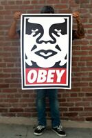 ♦ OBEY Shepard Fairey XXL  ♦  Icon Andre 2020 (C215, Banksy, invader) Signée
