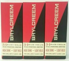 Brylcreem 3 in 1 Hair Cream for Men, 4.5 fl oz (3 Pack) - no expiration date