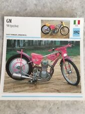 GM 500 Speedway 1992 Marzotto Carte moto Collection Atlas Italie