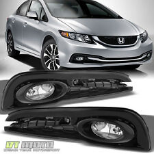 2013-2015 Honda Civic 4-Door Sedan Bumper Fog Lights Lamps w/ Switch Left+Right