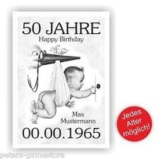 Geburtstagsurkunde Urkunde zum Geburtstag Geschenk Fest Bild 18 20 30 40 50 60