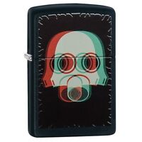 Zippo 29417 Gas Mask Black Matte Finish Full Size Lighter