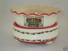 Candle/Tart Warmer (2-Piece ELECTRIC) Scalloped TULIPS WELCOME FRIENDS