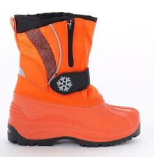 NEW GIRLS/BOYS ORANGE WINTER WARM SNOW/SKI BOOTS. SIZE UK 2.5/EURO 35