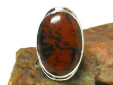 Mahogany  OBSIDIAN  Sterling  Silver  925  Gemstone  RING  -  Size: 7
