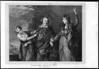 1872 Antique FINE ART Print - Joshua Reynolds Garrick Tragedy Comedy (188)