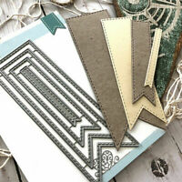 Metal Cutting Dies Ribbon Frame Stencils DIY Scrapbooking Album Paper Card Gift