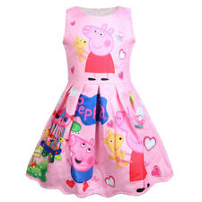 PEPPA PIG PINK SLEEVELESS COLORFUL DRESS - New - Size 3T
