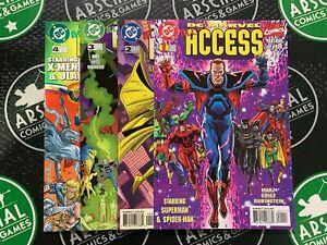 DC/Marvel All Access #1-4 Complete Set Avengers X-Men Batman Spider-Man