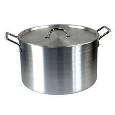 "Super Large 18"" Casserole Aluminium Kitchen Cooking Pan Saucepan Pot Lid Value"