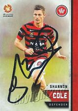 ✺Signed✺ 2015 2016 WESTERN SYDNEY WANDERERS A-League Card SHANNON COLE