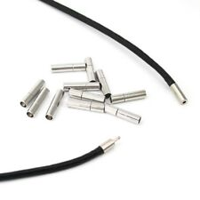 24 x Silver Tone NON Allergy Pewter Clasps 20x4mm Connector For 3mm Leather Cord