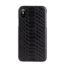 Snake Skin Leather Case Back Cover Natural For iPhone 6 6s 7 8 Plus XR X XS Max