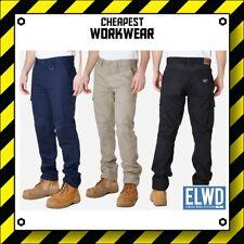 ELWD   Elwood Workwear   MENS UTILITY WORK PANTS (Black, Navy, Khaki) EWD101