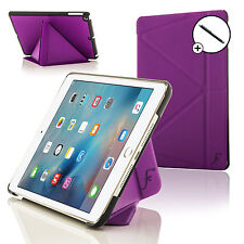 Púrpura Origami Smart Funda Protectora Soporte Para Apple Ipad Mini 4 2015 + Stylus